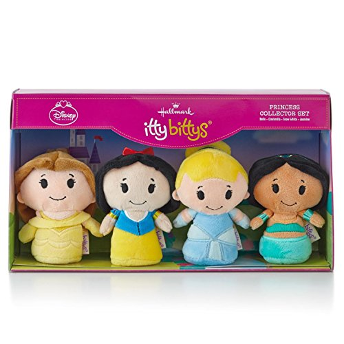 Hallmark Itty Bittys Disney Princess Collector Set - Belle, Cinderella, Snow White, Jasmine Limited Edition