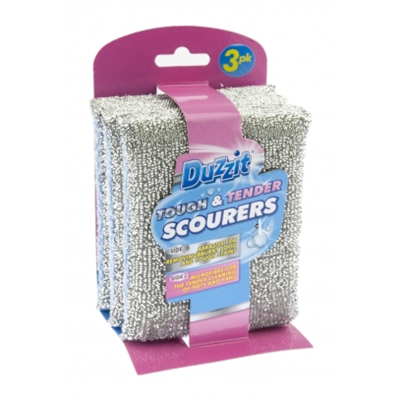 Pack of 3 Duzzit Tough And Tender Scourer