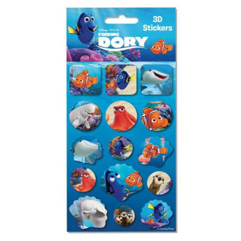 Finding Dory 3D Sticker Sheet