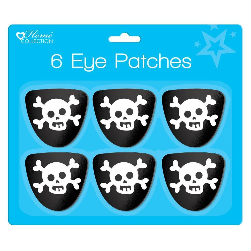 Pack of 6 Pirate Eye Patches
