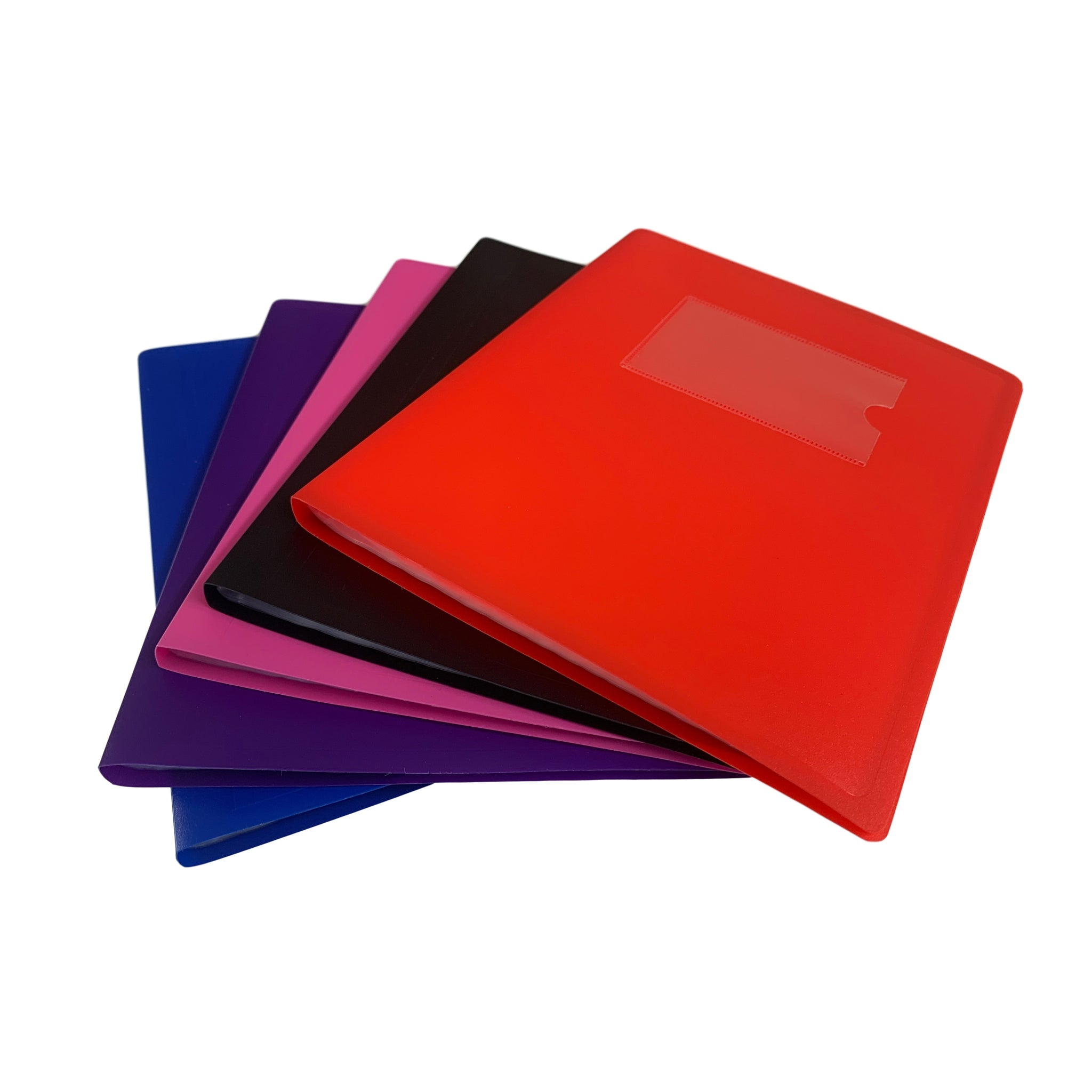 A5 Red Flexible Cover 40 Pocket Display Book