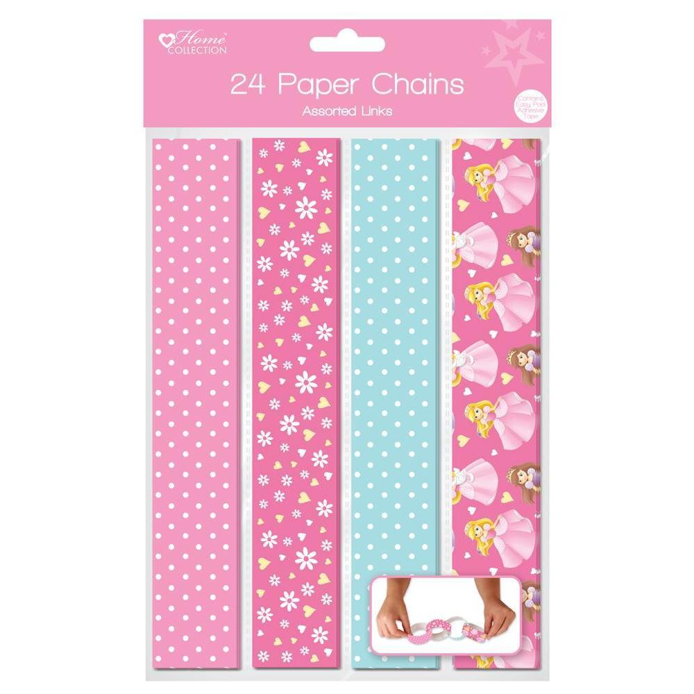 Pack of 24 Princess Design Paper Chains - Assorted Links