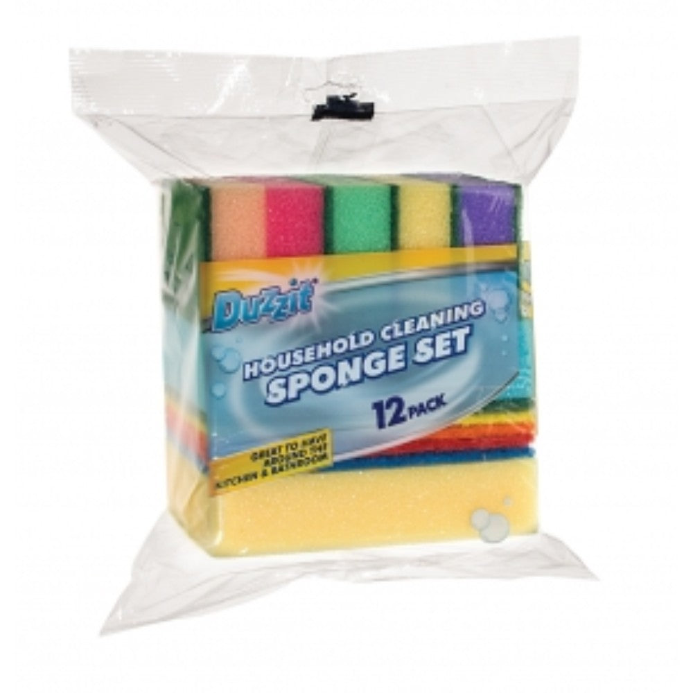 Pack of 12 Duzzit Household Cleaning Sponge