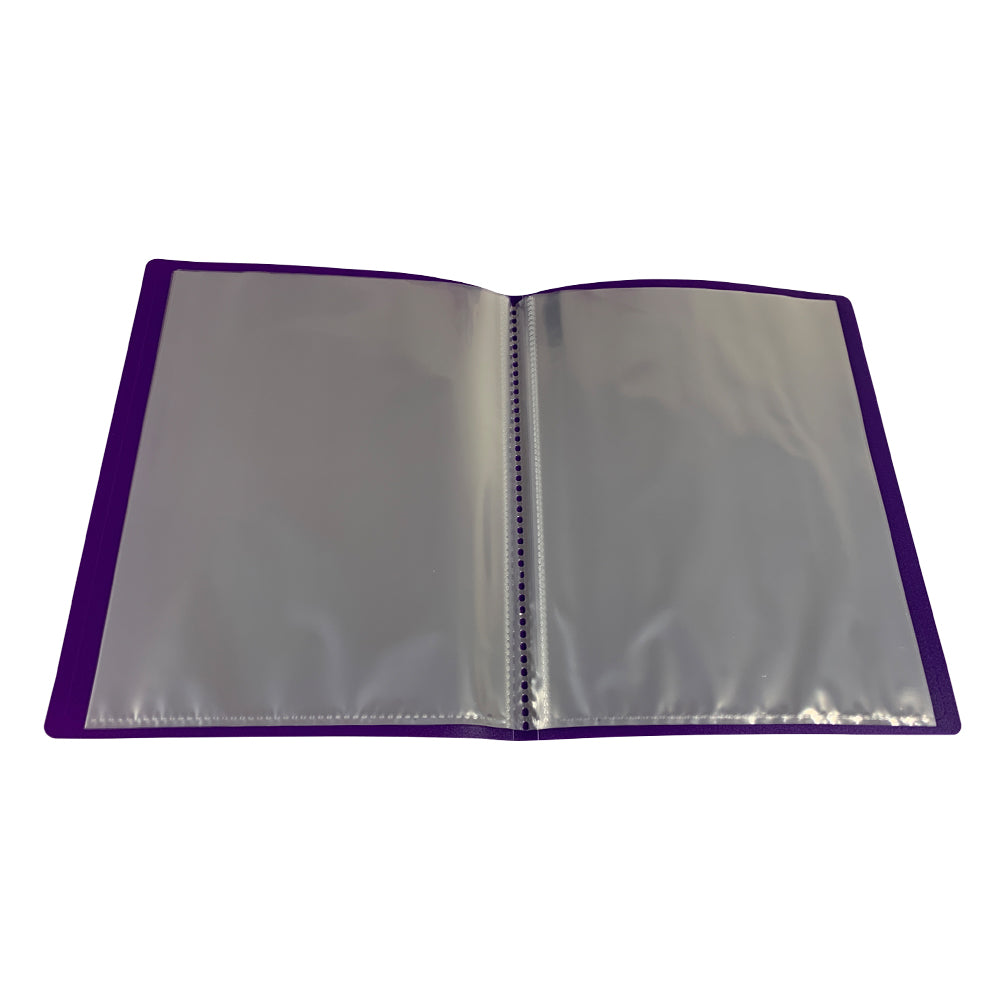A5 Purple Flexible Cover 40 Pocket Display Book