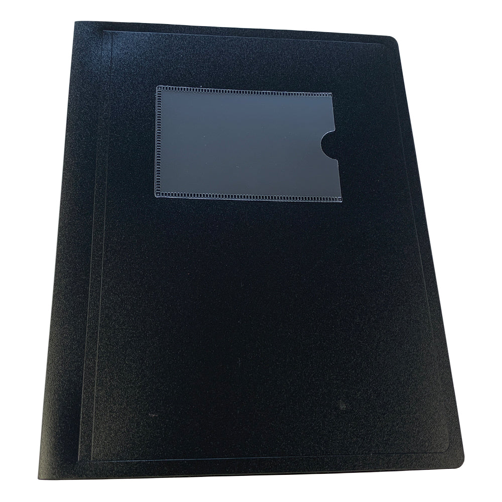 A5 Black Flexible Cover 20 Pocket Display Book