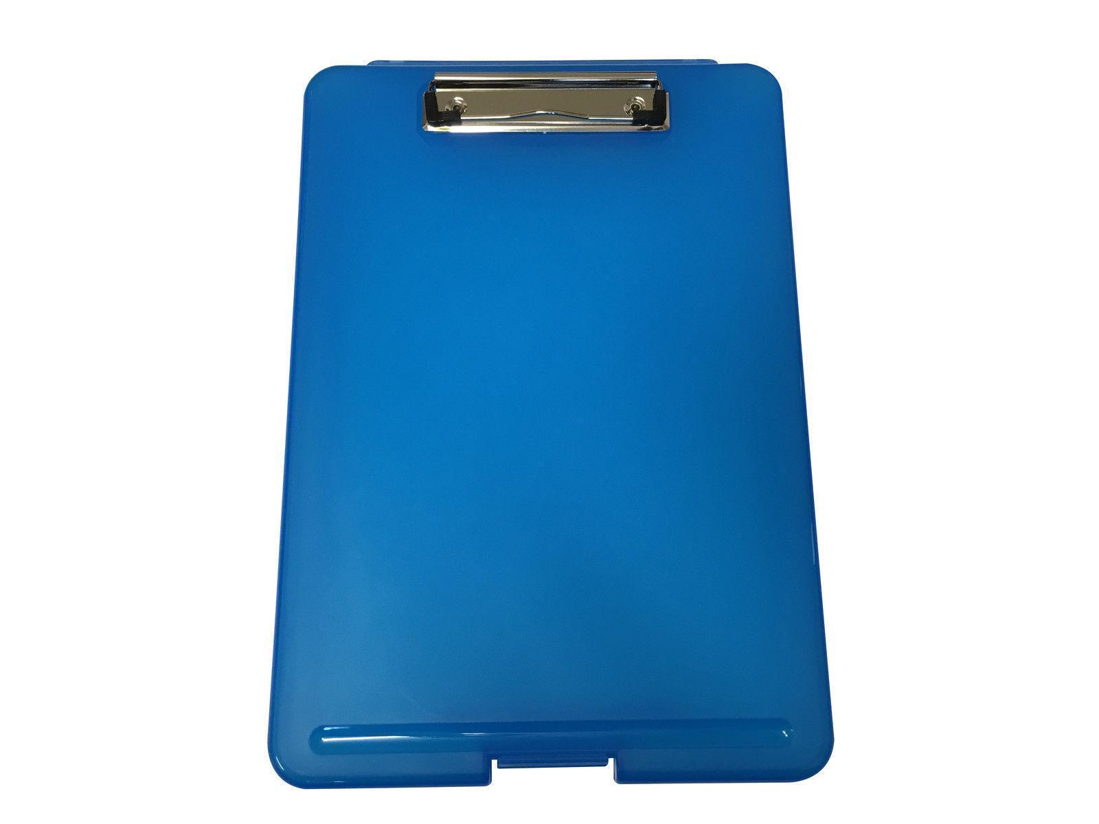 A4 Blue Clipboard Box File - Storage Filing Case