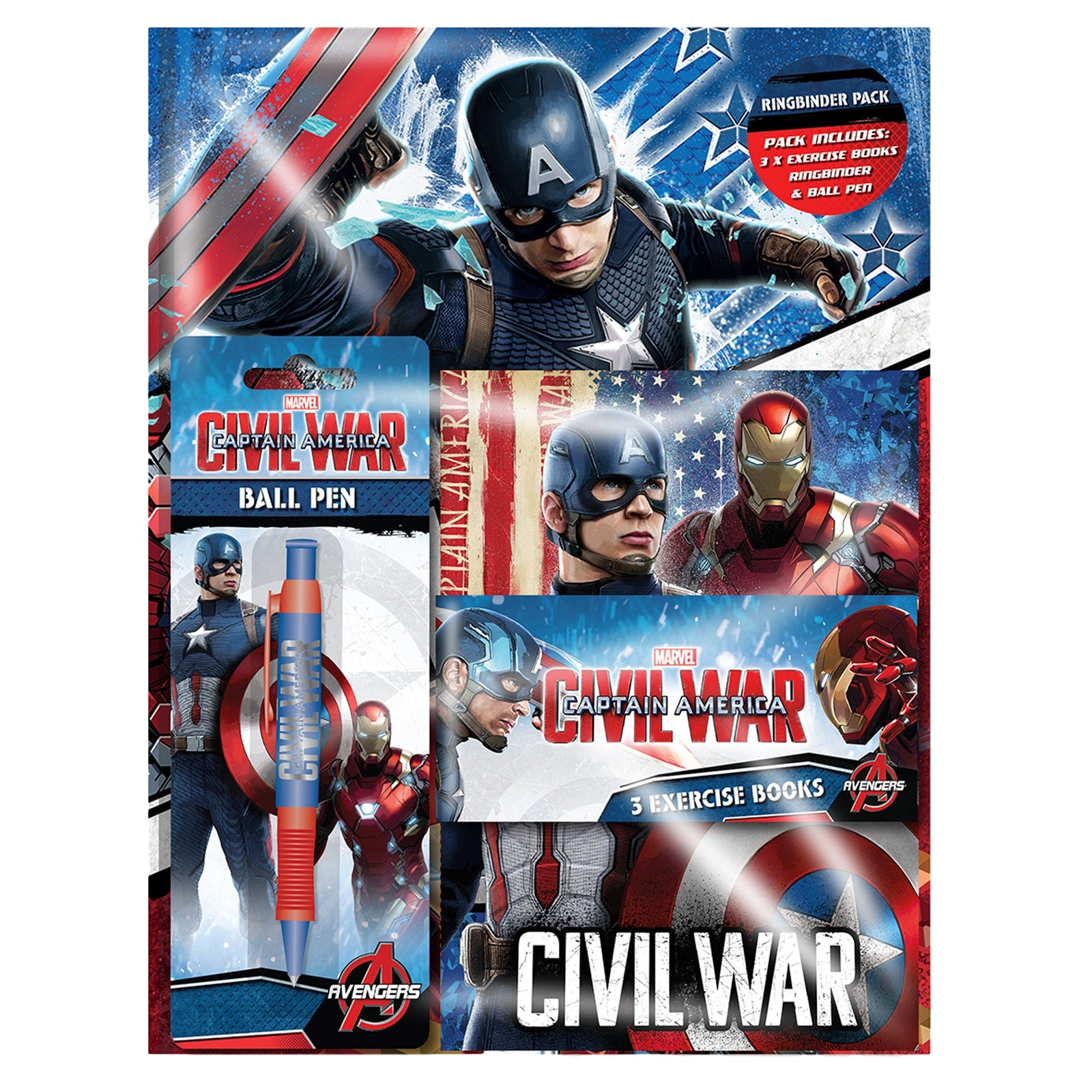 Captain America Ringbinder Stationery Pack