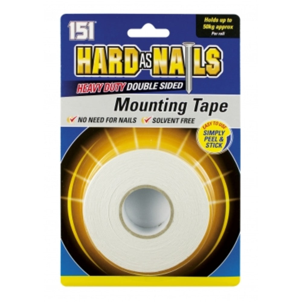 Hard as Nails Double Sided Heavy Duty Mounting Tape