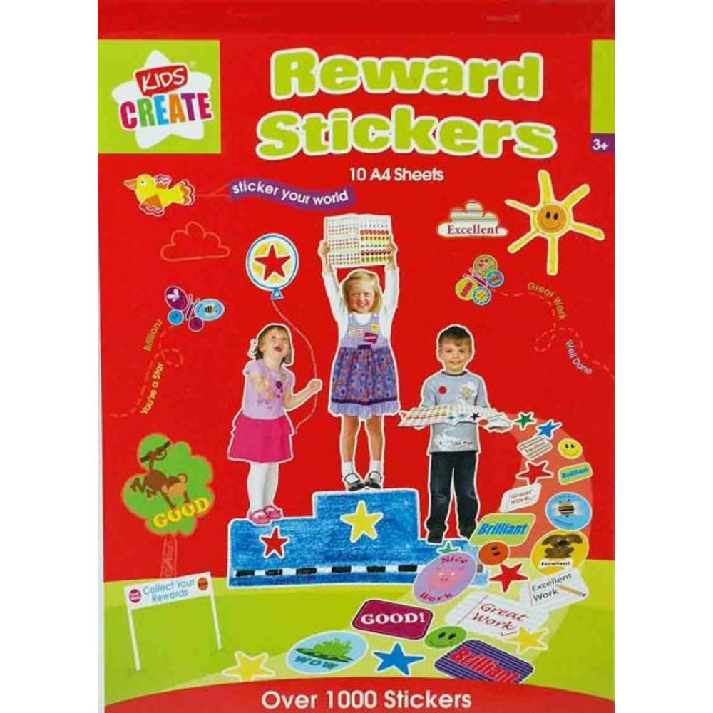 1000+ Reward Stickers Pad (10 A4 Sheets)