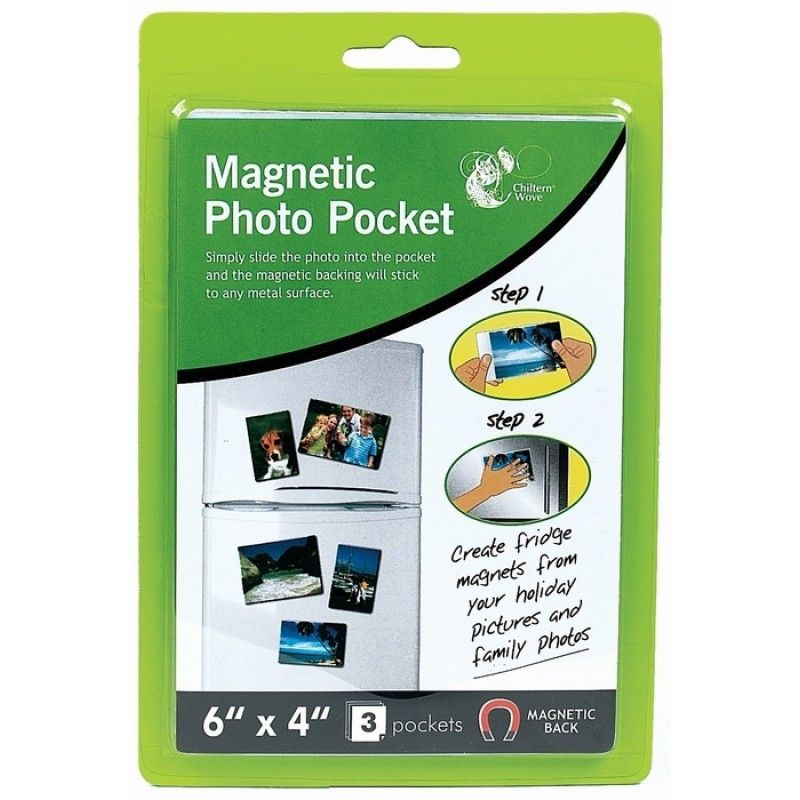 "Magnetic Photo Pockets 6"" x 4"" (3 Pack)"