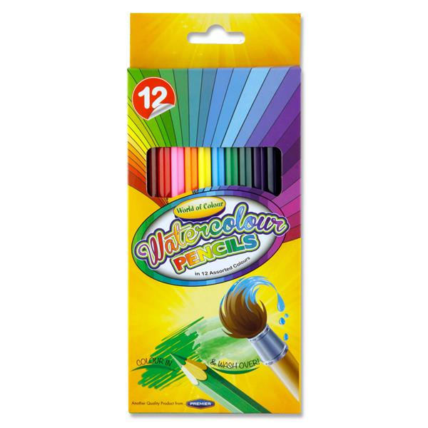 Pack of 12 Watercolour Colouring Pencils by World of Colour