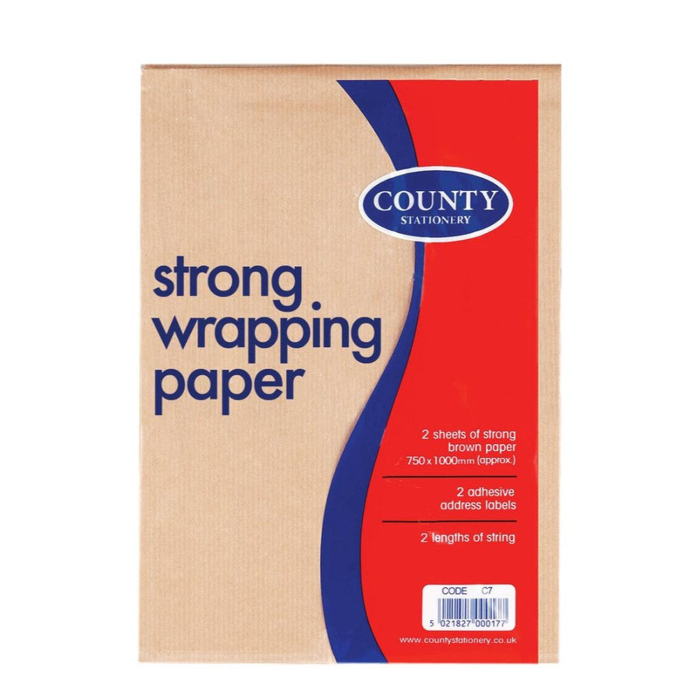 Brown Wrap 2 Sheets, Label & String