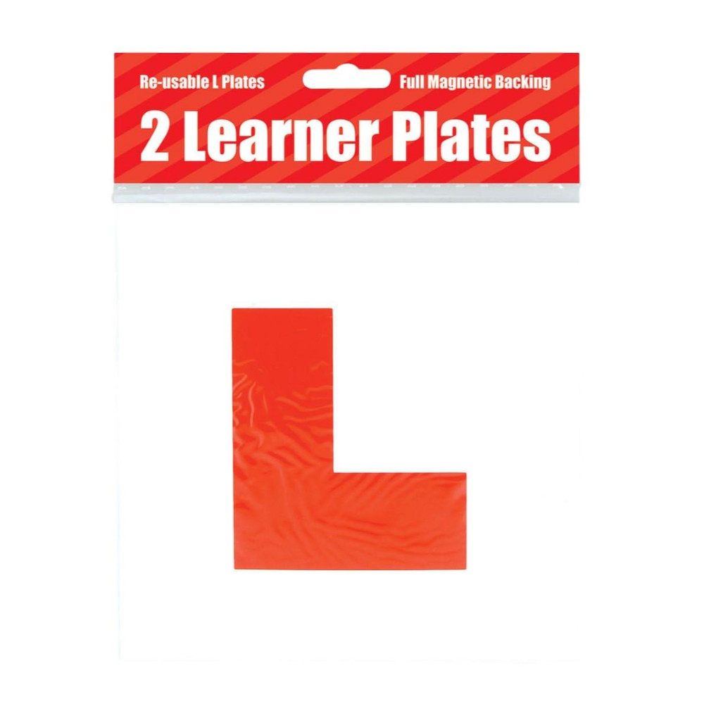 2 Magnetic Red L Learner Plates