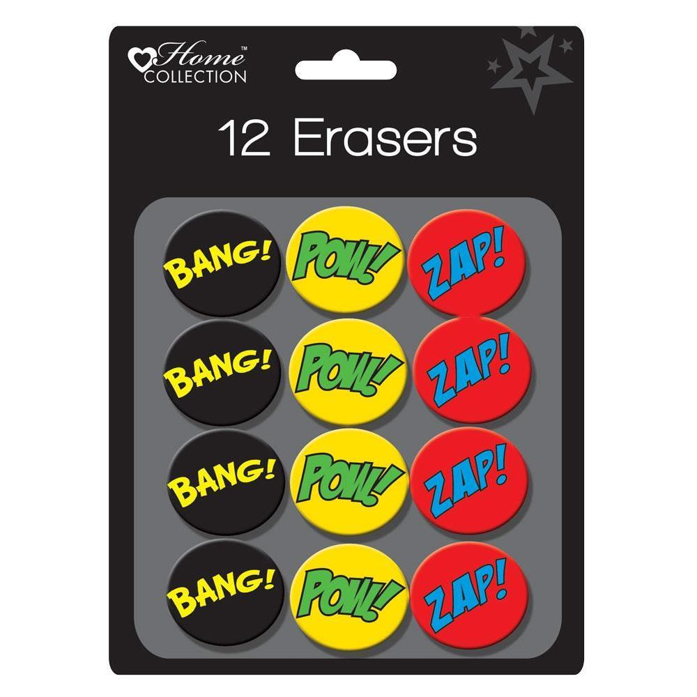 Pack of 12 Superhero Eraser