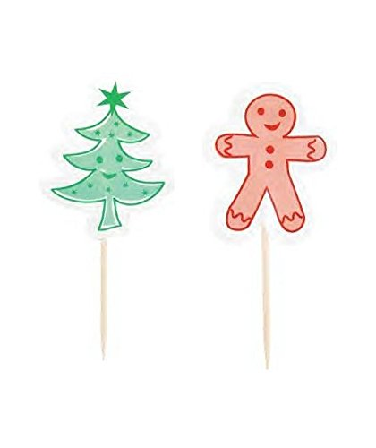 Pack Of 30 Festive Christmas Cupcake Cases & Decorative Toppers