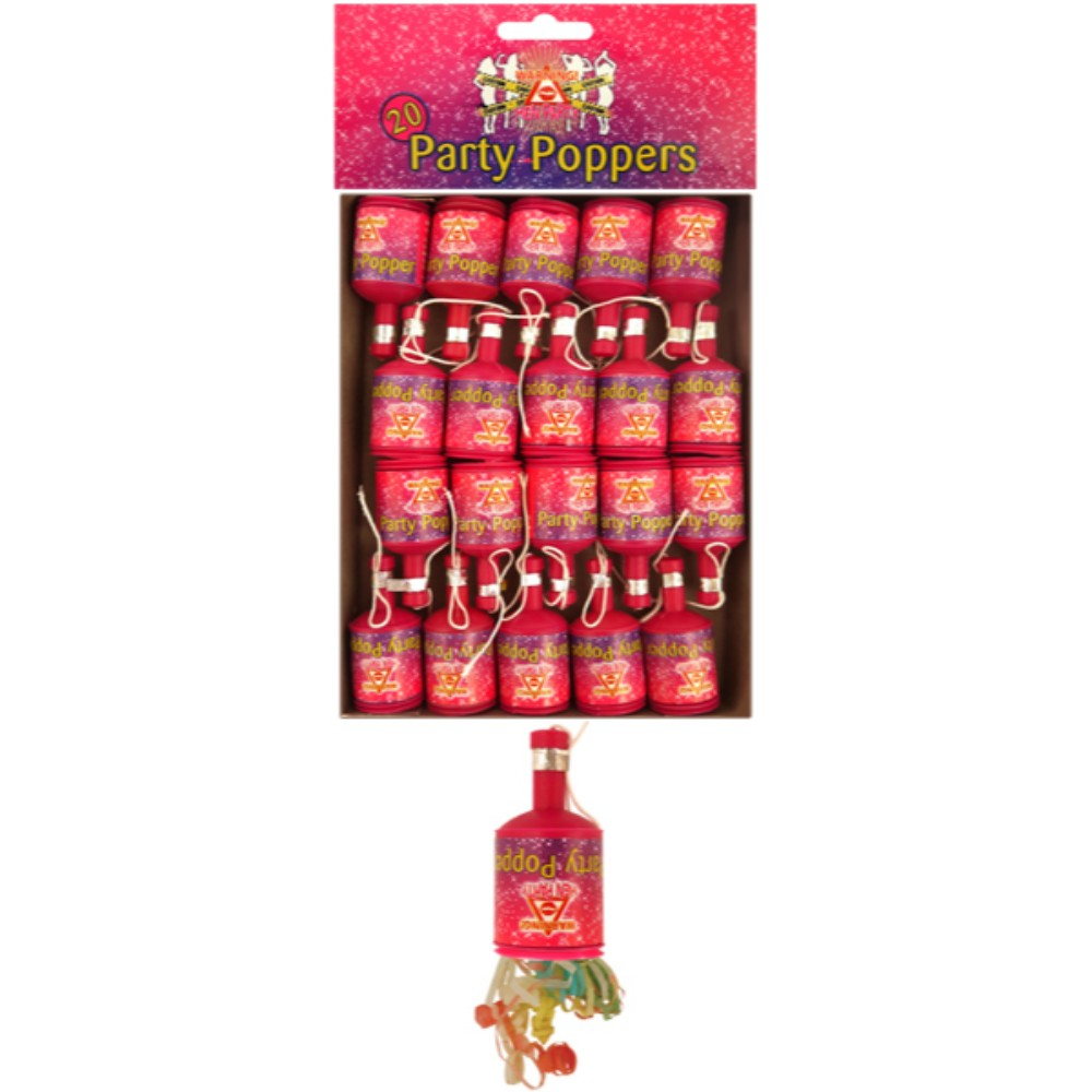 Pack of 20 Party Poppers Hen Night