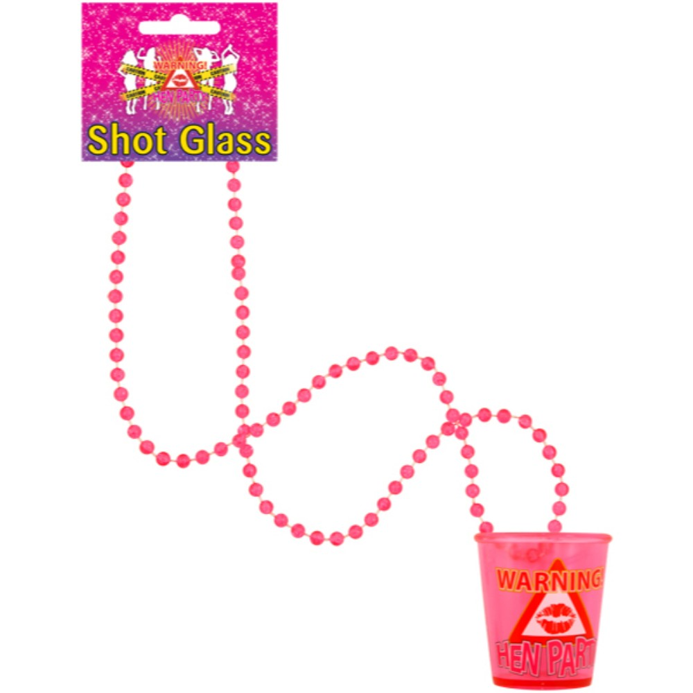 Shot Glass Hen Party With 84Cm Necklace