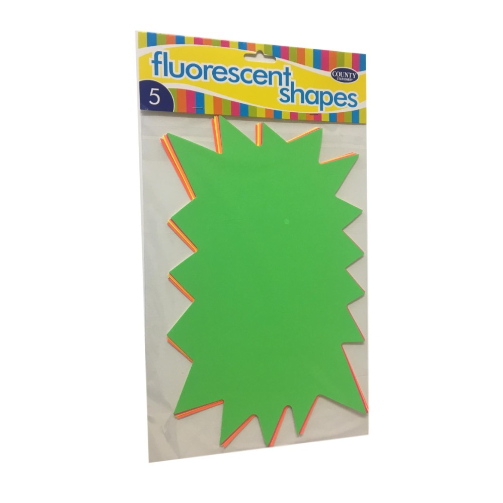 5 Fluorescent Flashes Shapes 185x295mm