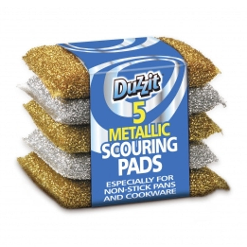 Duzzit Metallic Scouring Pads (5 Pack)
