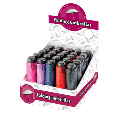 Box of 25 Folding Umbrellas