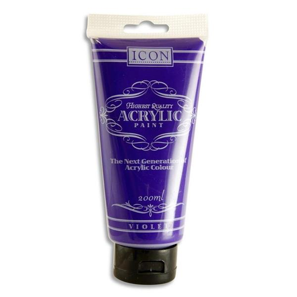 Violet Acrylic Paint 200ml by Icon Art