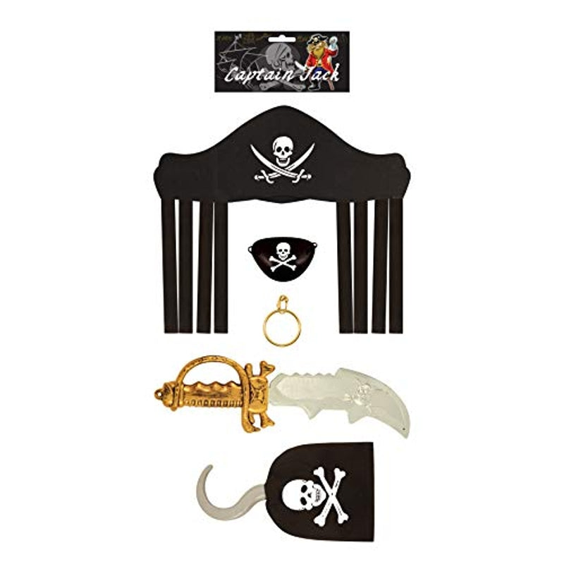 Pirate Set 5 Piece with 36cm Sword Child