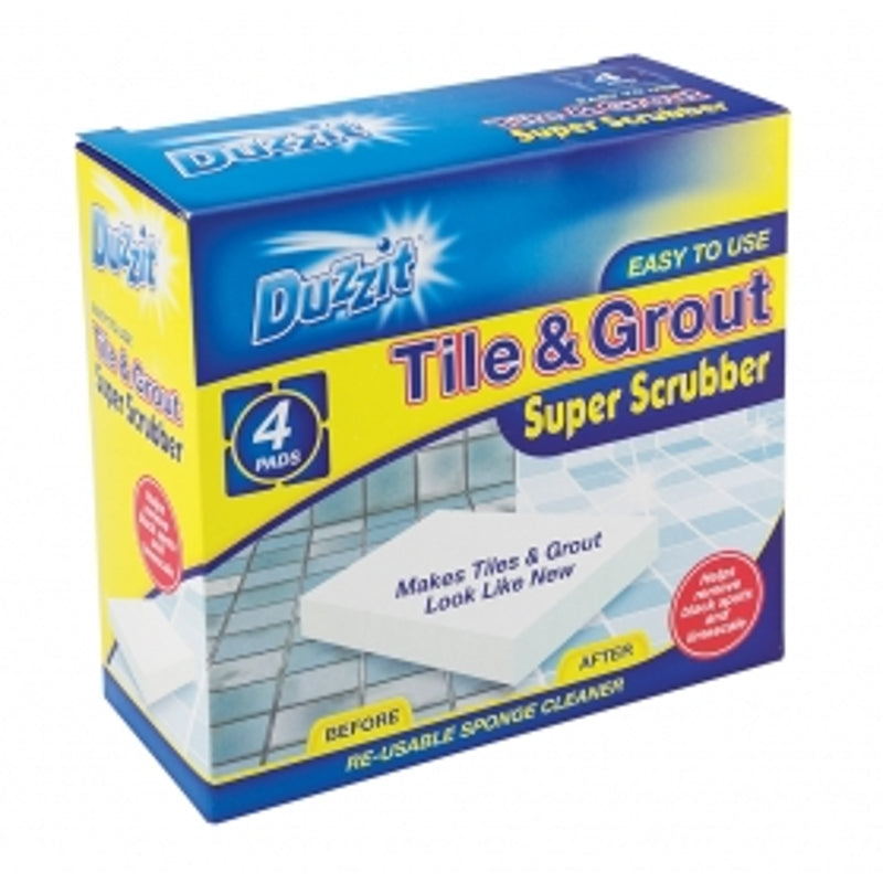 Duzzit Tile and Grout super Scrubber (4 Pack)