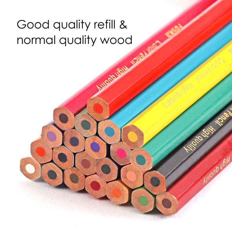 Pack of Assorted 24 Colour Pencils