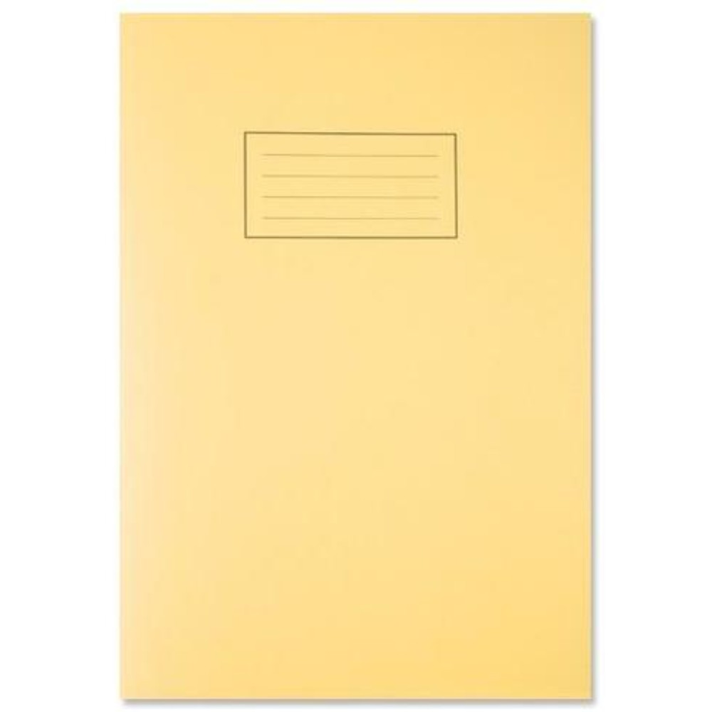 Silvine A4 Yellow Exercise Book - Lined with Margin
