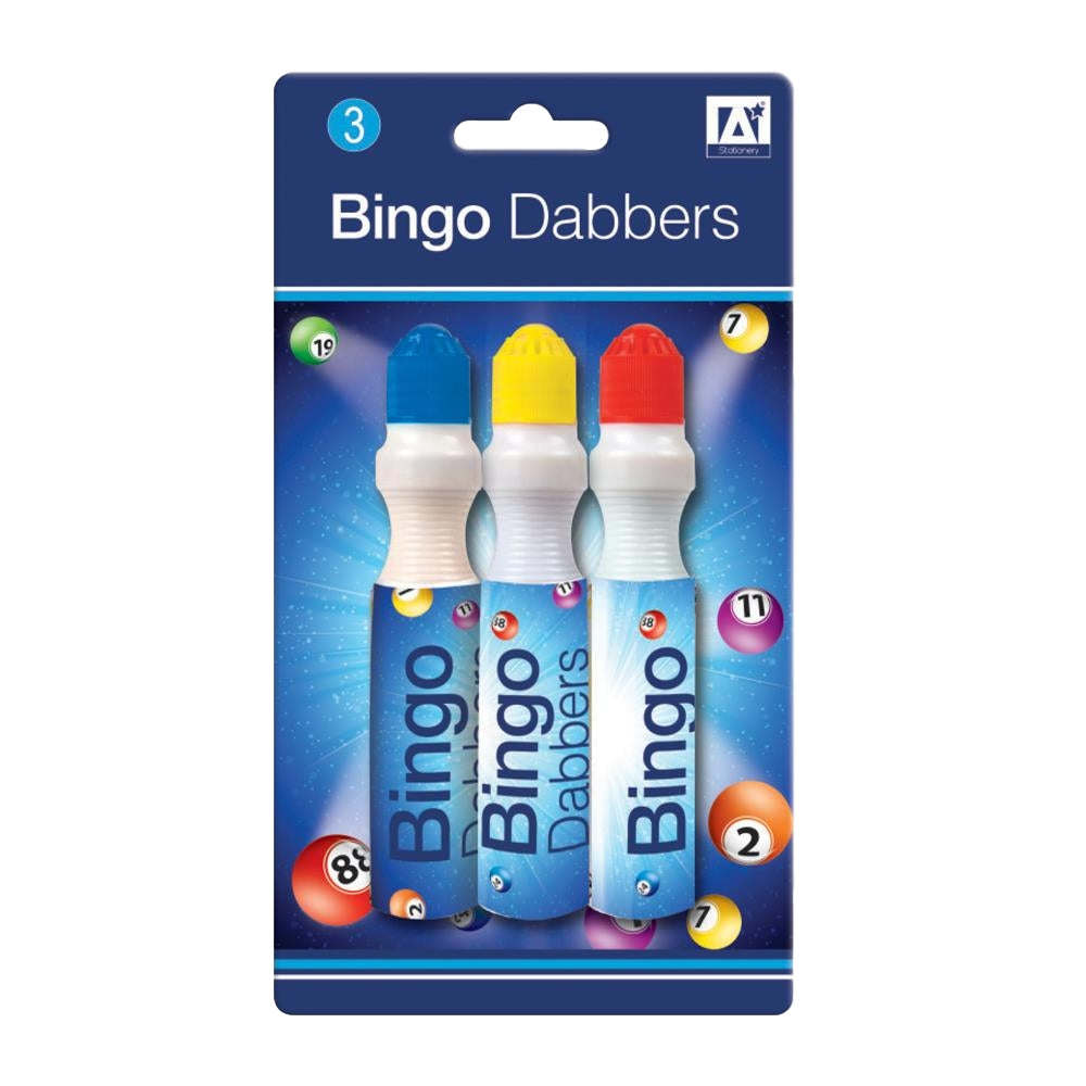 Pack of 3 Assorted Bingo Dabbers