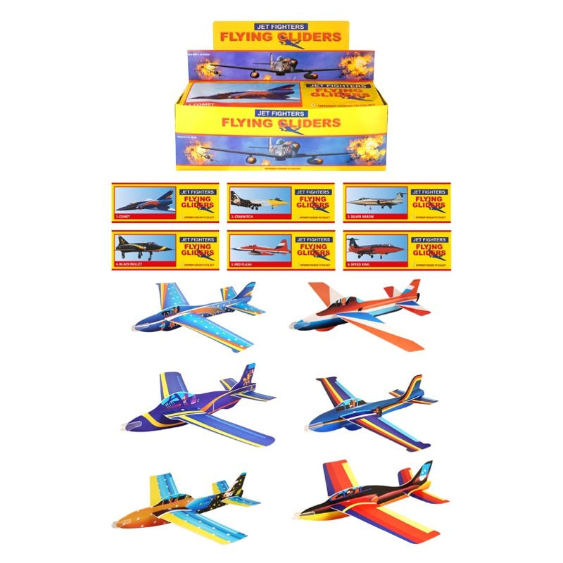 Super Air Aces Jet Fighter Plane 50cm Glider