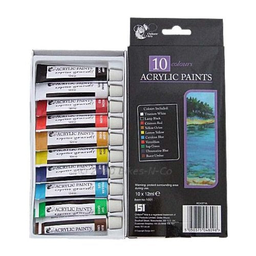 Acrylic Paints (10 Pack)