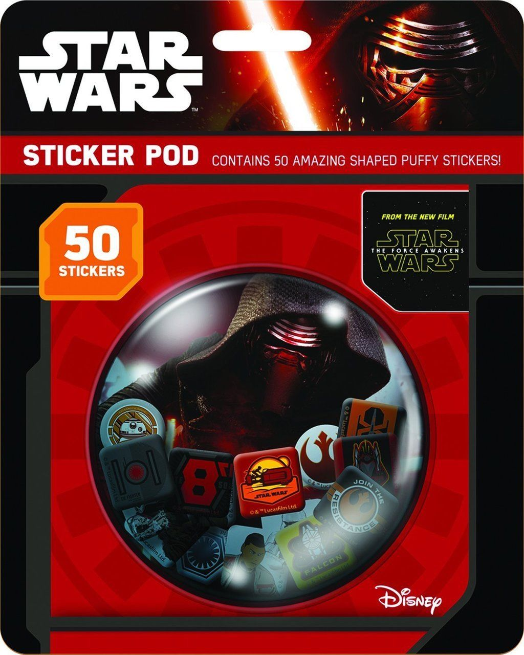 Star Wars VII Sticker Pod with 50 Shaped Puffy Stickers