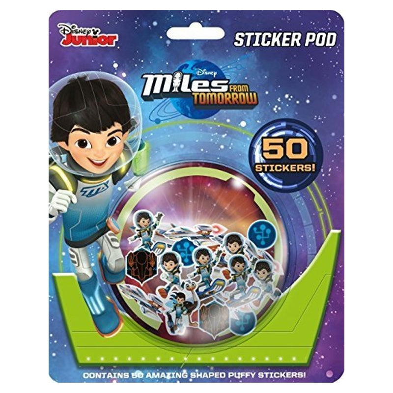 Miles From Tomorrow Sticker Pod with 50 Shaped Puffy Stickers
