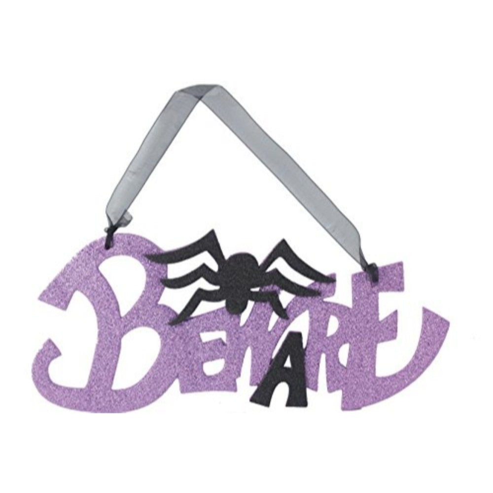 Halloween Glitter Hanging Plaque