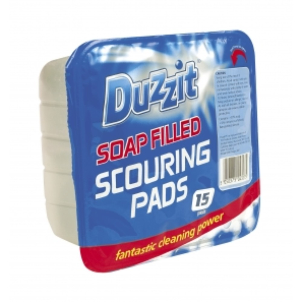 Duzzit Soap Filled Scouring Pads (15 Pack)