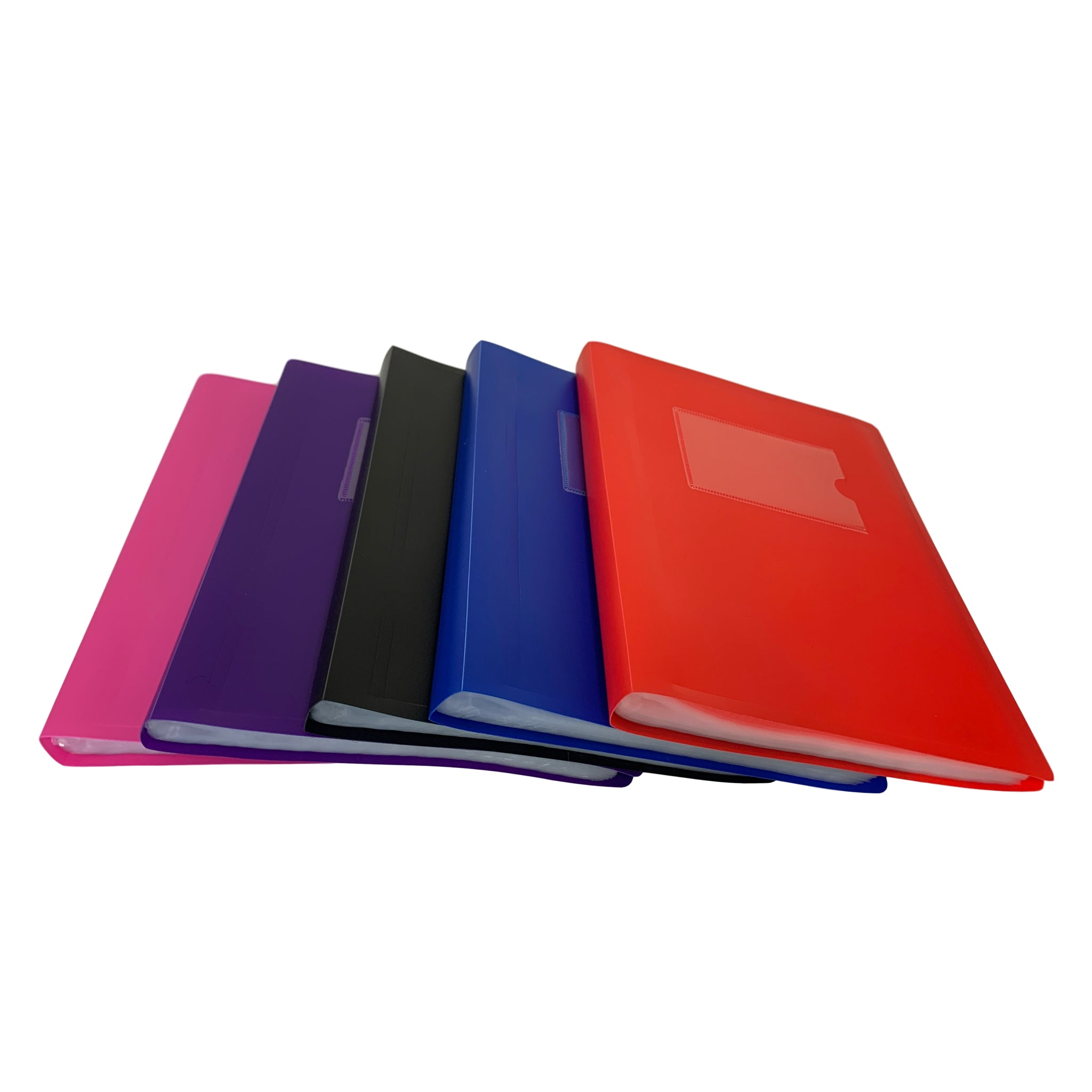 A5 Red Flexible Cover 100 Pocket Display Book