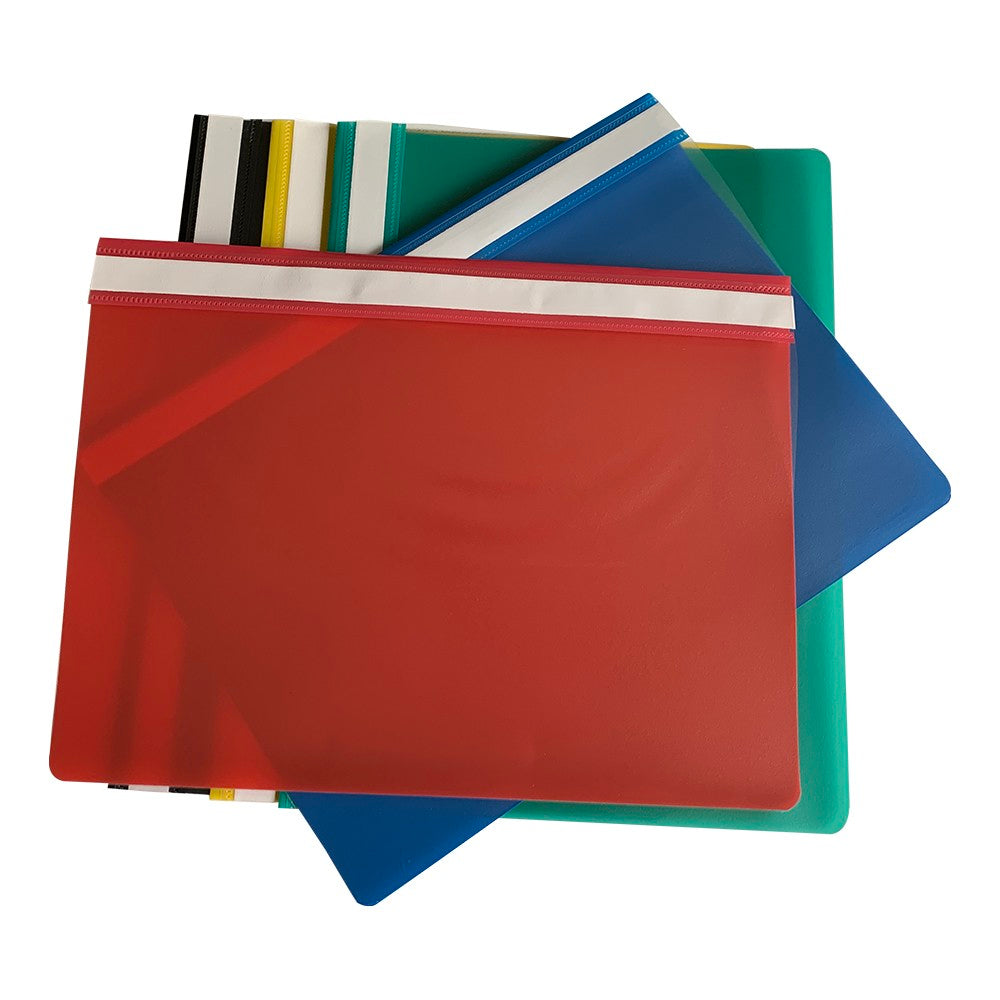 Pack of 12 Green A4 Project Folders by Janrax