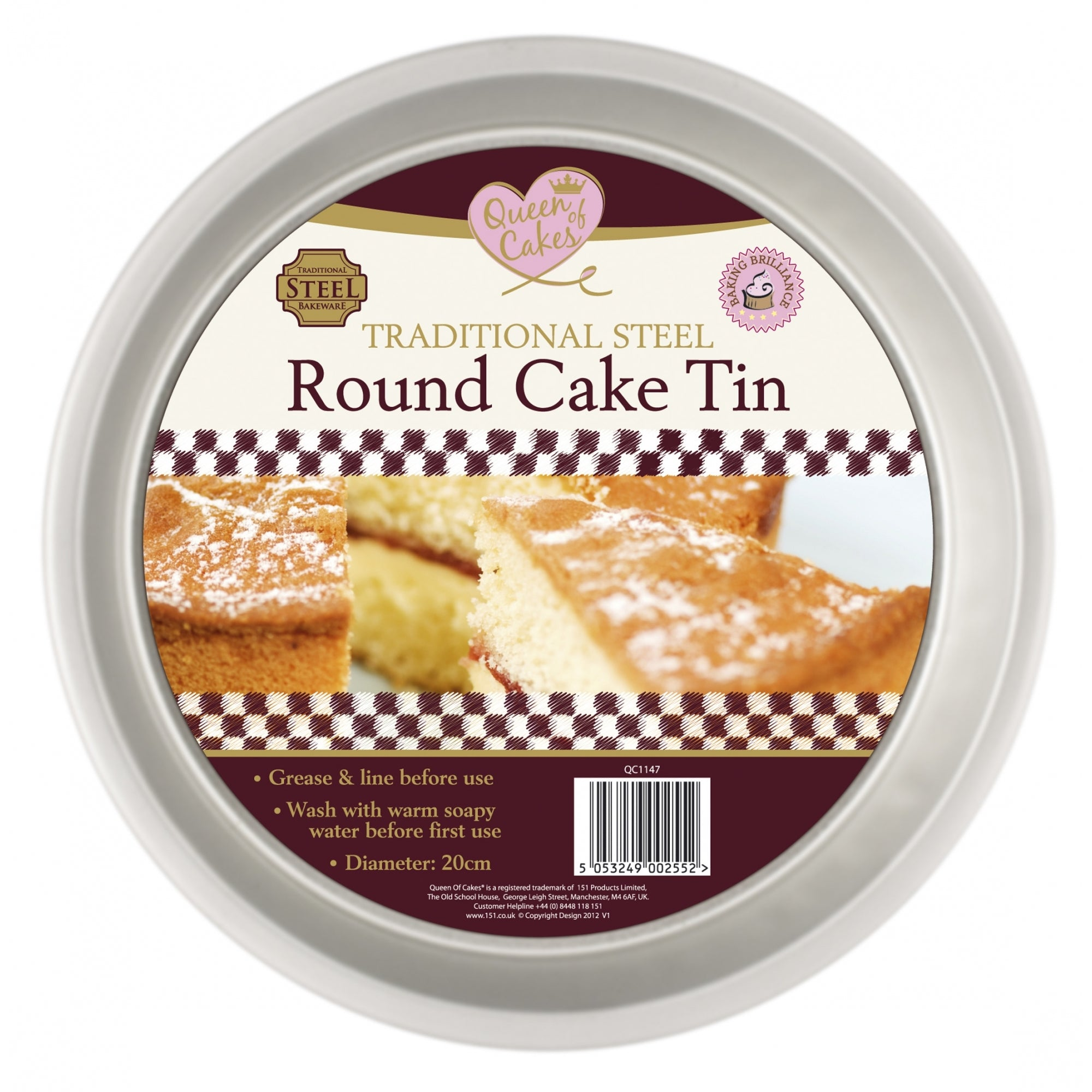 Taditional Steel Round Cake Tin