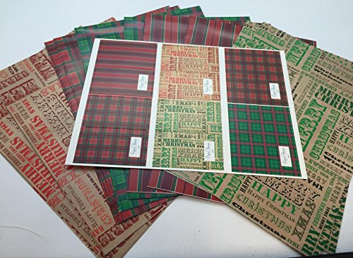 10 Sheet of Mix Designer Soft touch Foiled Christmas Design Gift Wrapping Paper