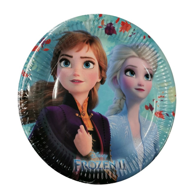 Pack of 8 Frozen 2 Design 23cm Paper Plates
