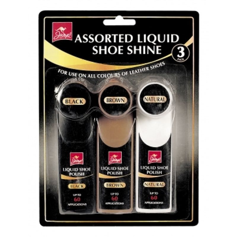 Pack of 3 Jump Assorted Liquid Shoe Shine