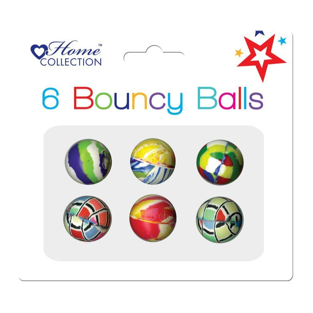 Pack of 6 Bouncy Balls