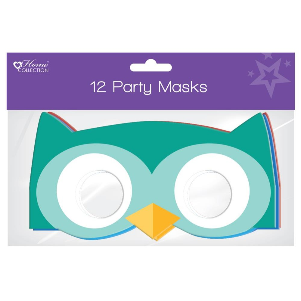Pack of 12 Card Woodland Masks