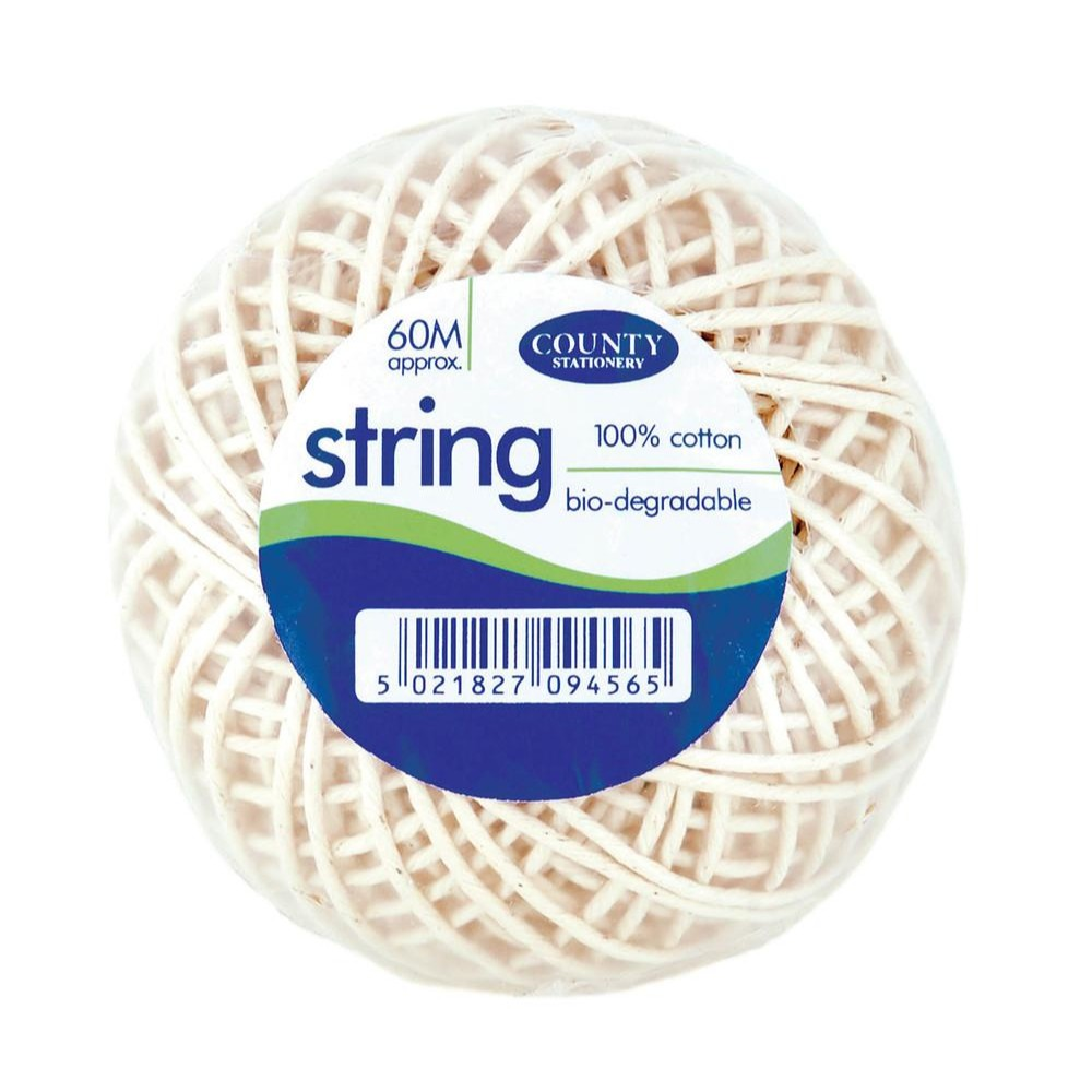 Medium Cotton String 60m Ball