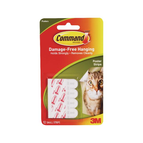 Pack of 12 3M Command Adhesive Poster Strips Small