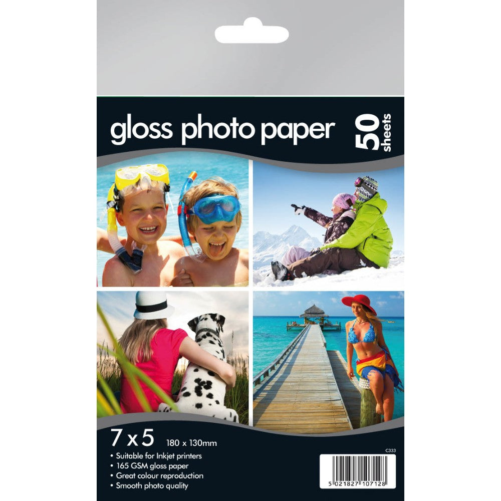 "50 7""x5"" Gloss Photo Paper 160gsm"