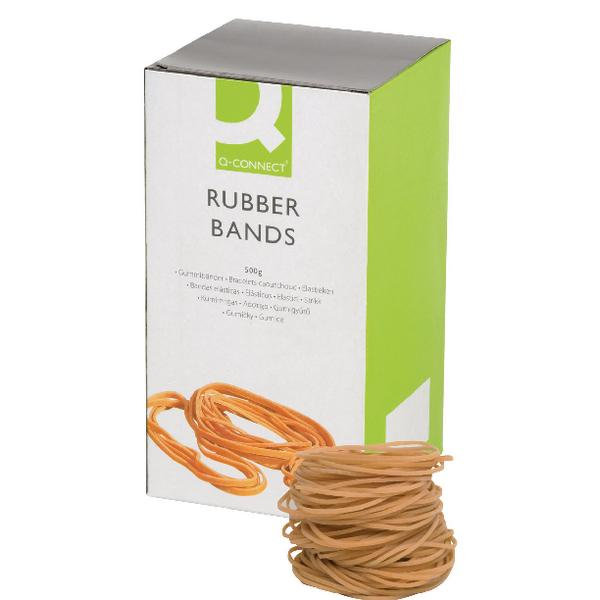 Box of Q-Connect Rubber Bands No.18 76.2 x 1.6mm 500g