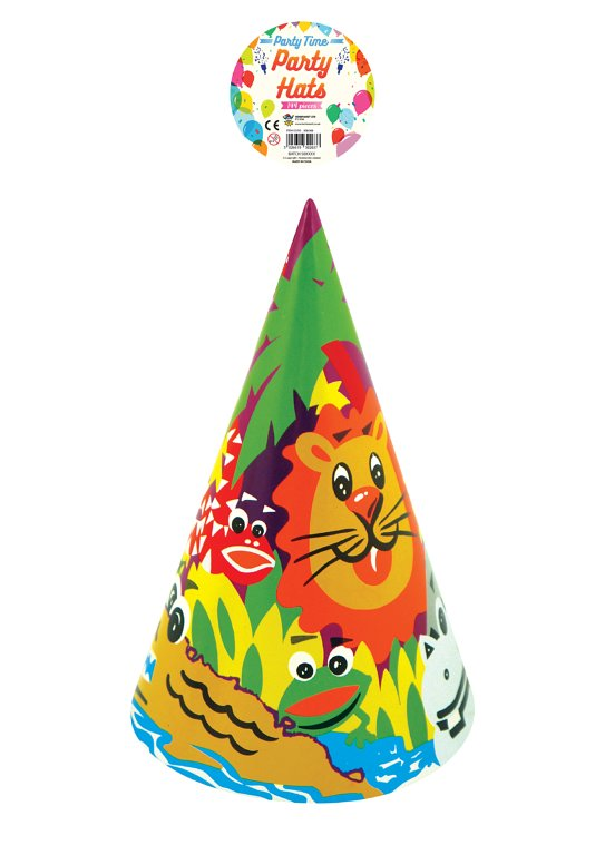 Pack of 144 Animal Print Design Children's Party Cone Hat