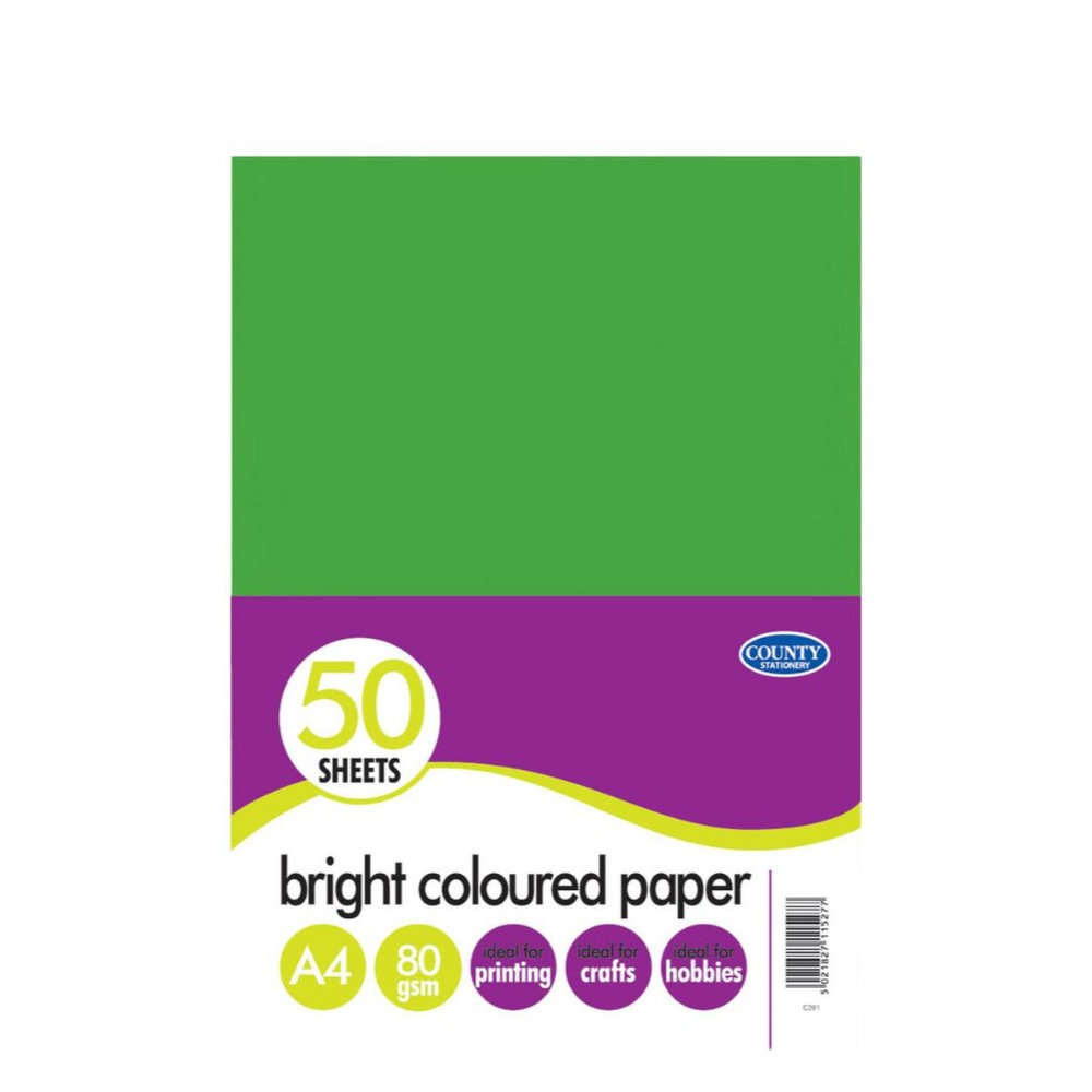 50 A4 Bright Coloured Paper